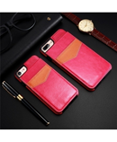 KISSCASE Pink Vertical Flip Card Holder Leather Case